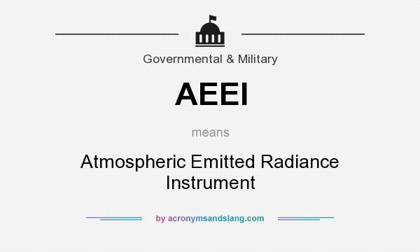 What does AEEI mean? It stands for Atmospheric Emitted Radiance Instrument