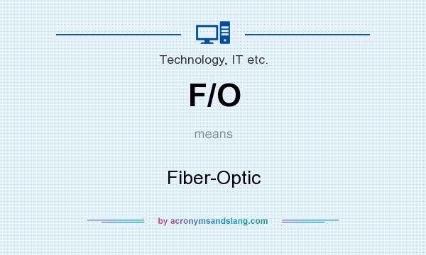 What does F/O mean? It stands for Fiber-Optic