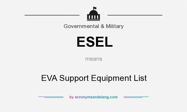 What does ESEL mean? It stands for EVA Support Equipment List