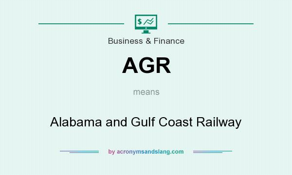 What does AGR mean? It stands for Alabama and Gulf Coast Railway