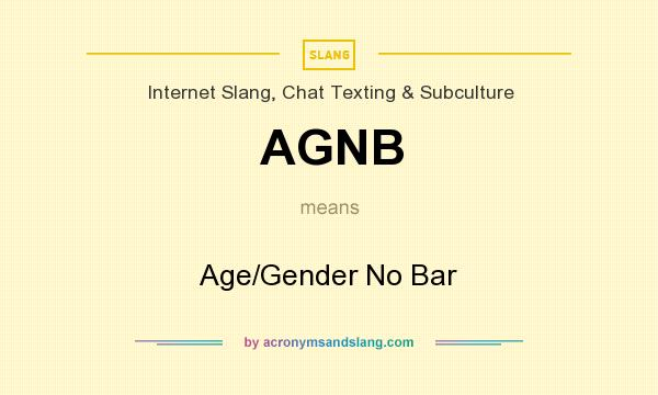 AGNB - Age/Gender No Bar in Internet Slang, Chat Texting