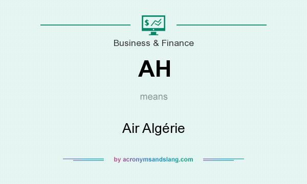 What does AH mean? It stands for Air Algérie