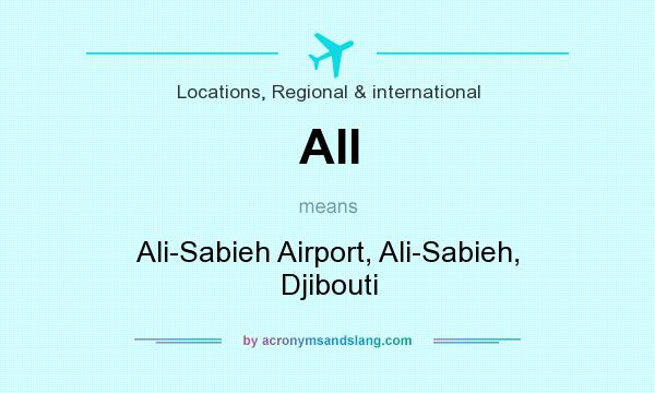 What does AII mean? It stands for Ali-Sabieh Airport, Ali-Sabieh, Djibouti