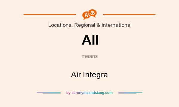 What does AII mean? It stands for Air Integra