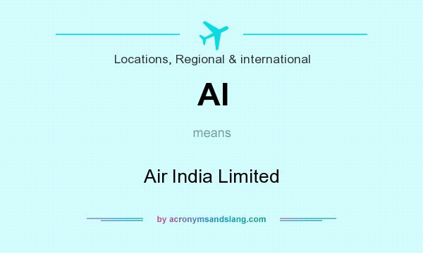 What does AI mean? It stands for Air India Limited