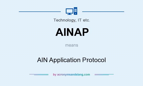 What does AINAP mean? It stands for AIN Application Protocol