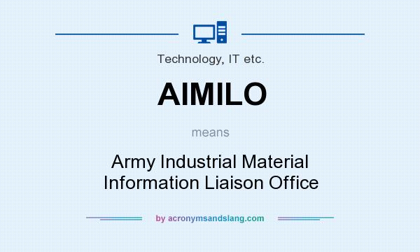 What does AIMILO mean? It stands for Army Industrial Material Information Liaison Office