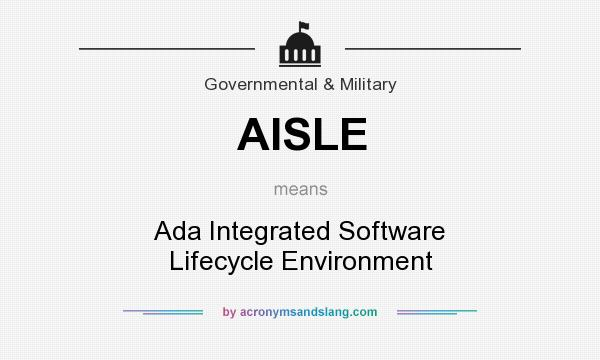 What does AISLE mean? It stands for Ada Integrated Software Lifecycle Environment