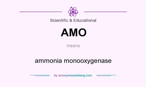 What does AMO mean? It stands for ammonia monooxygenase