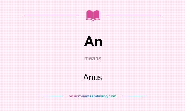 What does An mean? It stands for Anus