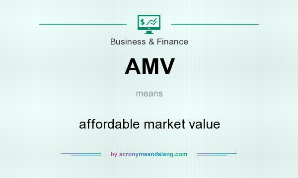 What does AMV mean? It stands for affordable market value