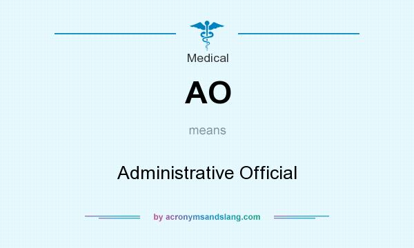 What does AO mean? It stands for Administrative Official