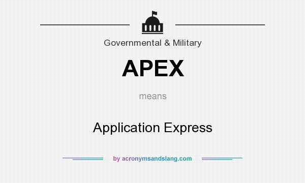 What does APEX mean? It stands for Application Express
