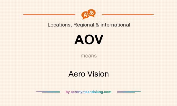 What does AOV mean? It stands for Aero Vision