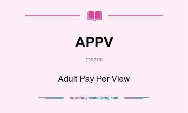 Adult payperview