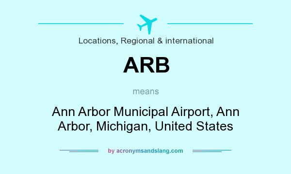 What does ARB mean? It stands for Ann Arbor Municipal Airport, Ann Arbor, Michigan, United States