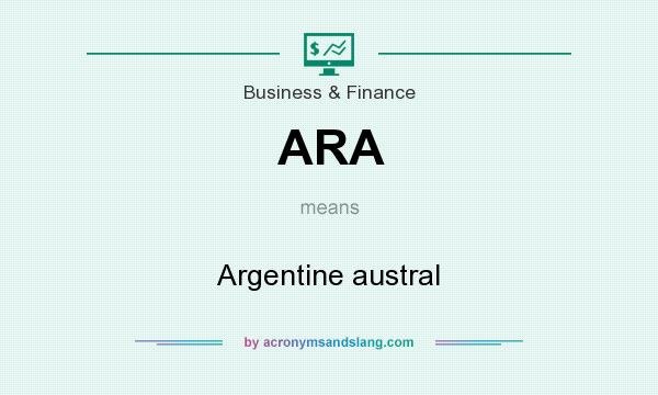 What does ARA mean? It stands for Argentine austral