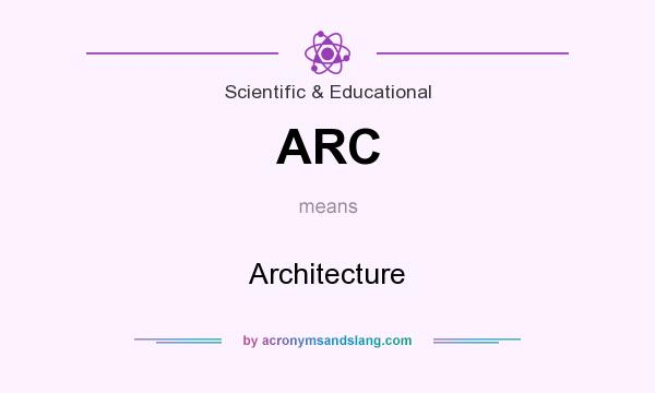 What does ARC mean? It stands for Architecture