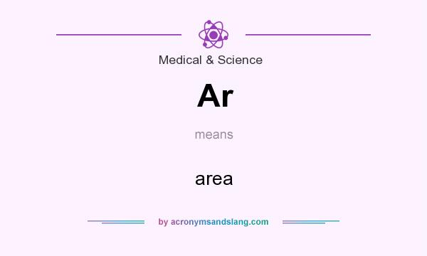 What does Ar mean? It stands for area