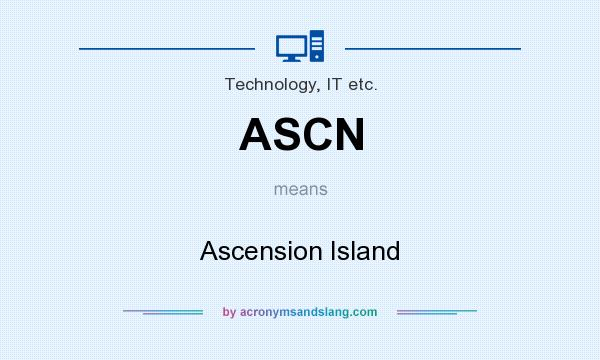 What does ASCN mean? It stands for Ascension Island