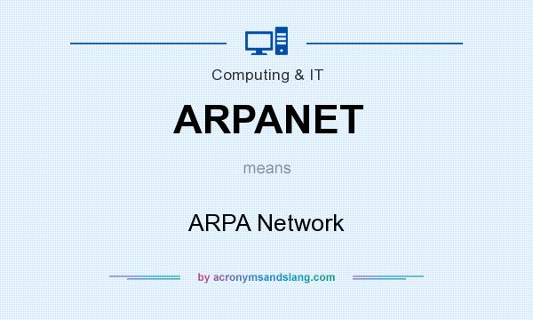 What does ARPANET mean? It stands for ARPA Network