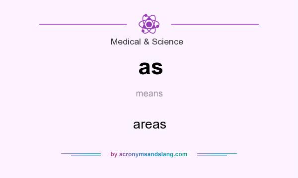 What does as mean? It stands for areas