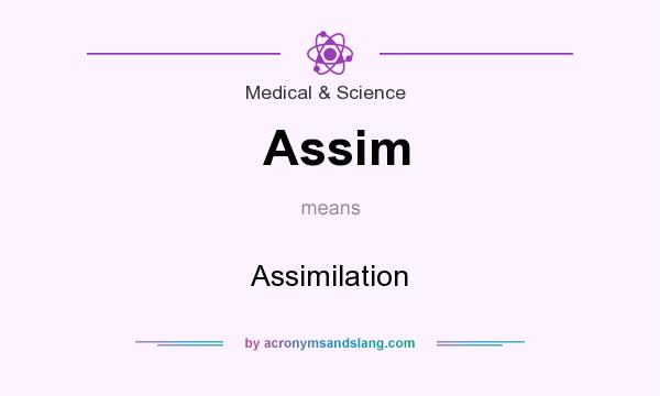 What does Assim mean? It stands for Assimilation