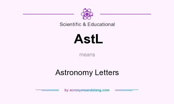 What does AstL mean? It stands for Astronomy Letters