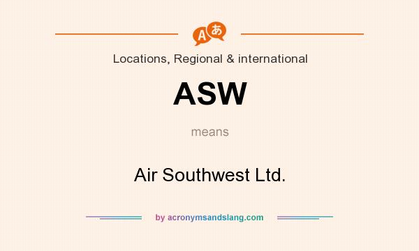 What does ASW mean? It stands for Air Southwest Ltd.