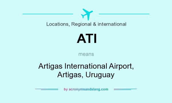 What does ATI mean? It stands for Artigas International Airport, Artigas, Uruguay