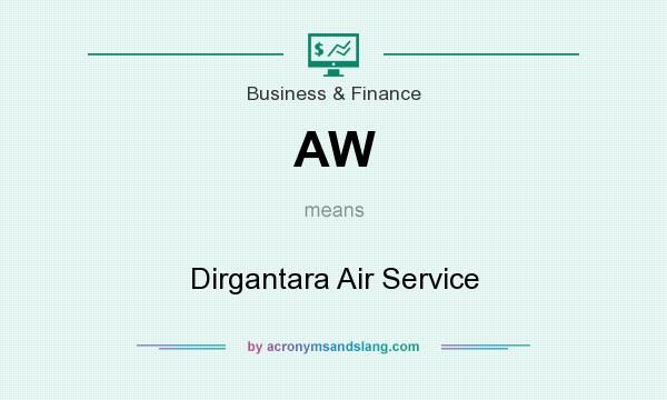 What does AW mean? It stands for Dirgantara Air Service