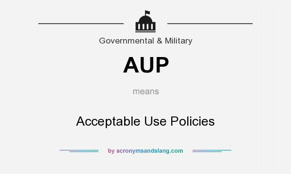 What does AUP mean? It stands for Acceptable Use Policies
