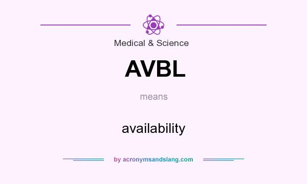 What does AVBL mean? It stands for availability
