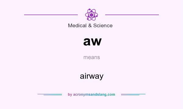 What does aw mean? It stands for airway