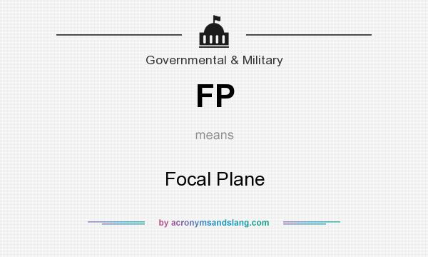 What does FP mean? It stands for Focal Plane
