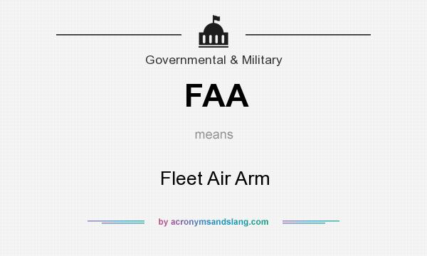 What does FAA mean? It stands for Fleet Air Arm