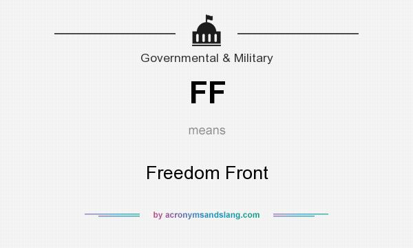 What does FF mean? It stands for Freedom Front
