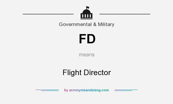 What does FD mean? It stands for Flight Director