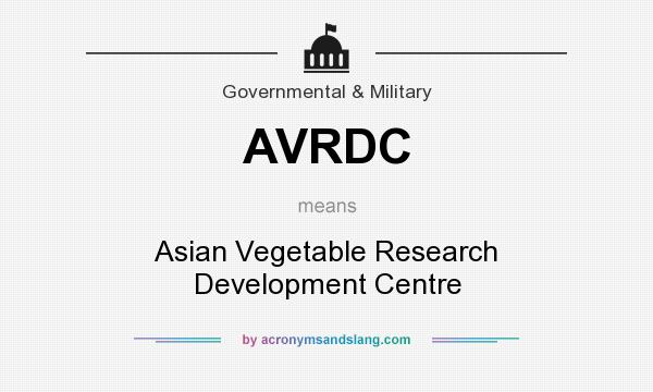 What does AVRDC mean? It stands for Asian Vegetable Research Development Centre