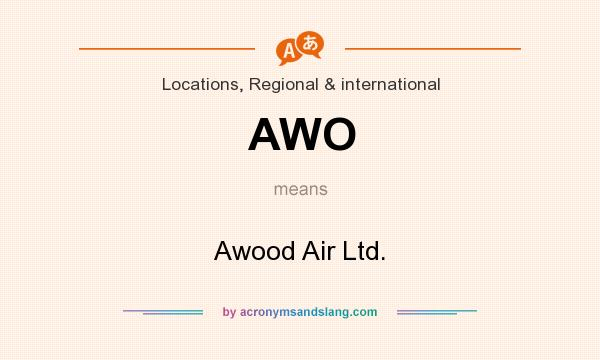 What does AWO mean? It stands for Awood Air Ltd.