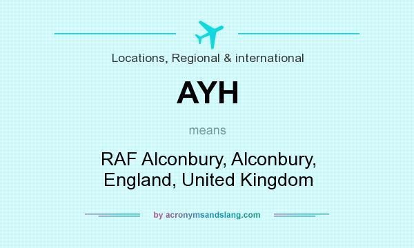 What does AYH mean? It stands for RAF Alconbury, Alconbury, England, United Kingdom