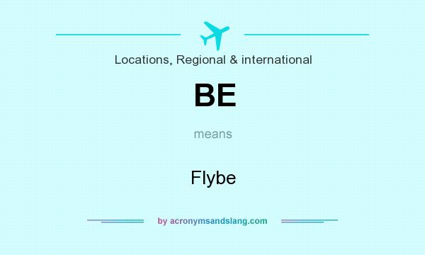 What does BE mean? It stands for Flybe