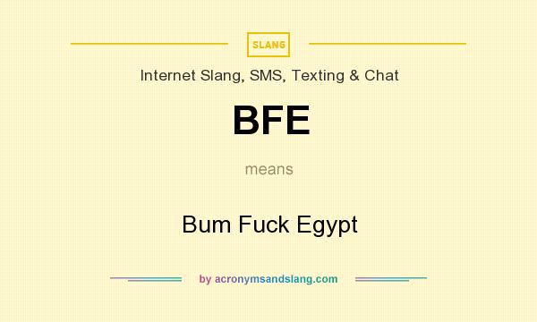 offensive language - What is the etymology of BFE