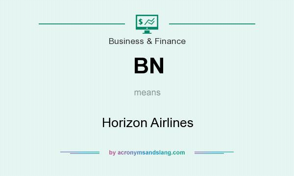 What does BN mean? It stands for Horizon Airlines