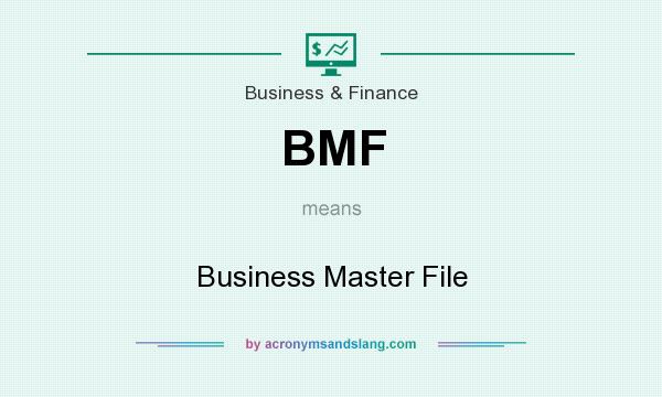 What does BMF mean? It stands for Business Master File
