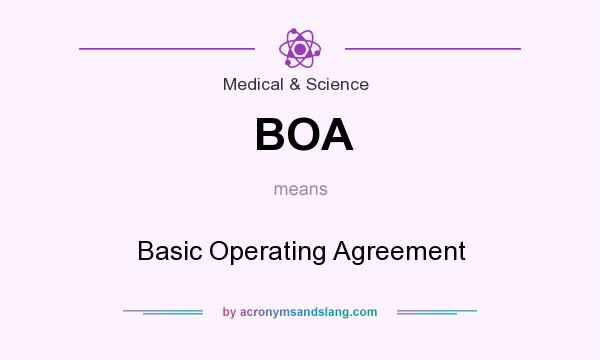 BOA - Basic Operating Agreement in Medical & Science by ...