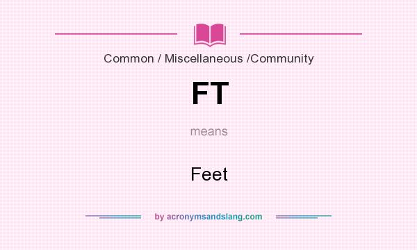 What does FT mean? It stands for Feet