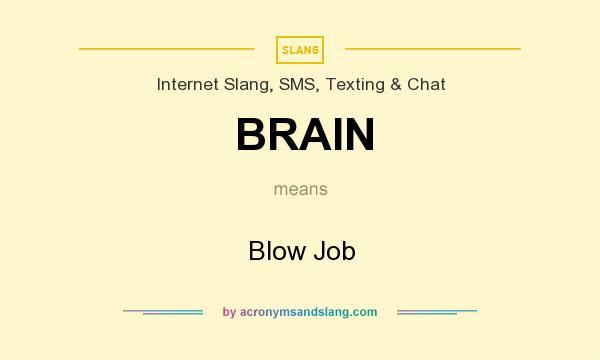 Slang for blowjob