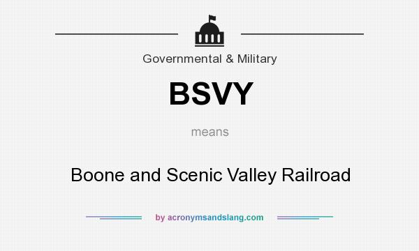 What does BSVY mean? It stands for Boone and Scenic Valley Railroad