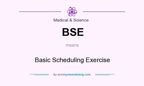 What does BSE mean? It stands for Basic Scheduling Exercise
